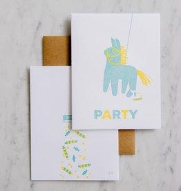 Pinata Party Birthday Card