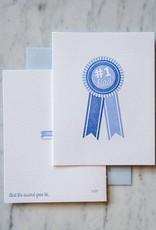 #1 Dad Blue Ribbon Card