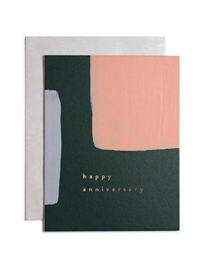 Happy Anniversary Block Paint Card
