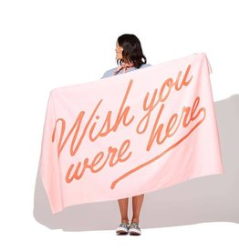 Wish You Were Here Beach Towel