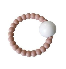 Teether Toy Rattle - Blush