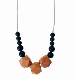 The Easton Teething Necklace - Black