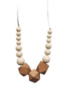 The Easton Teething Necklace - Cream