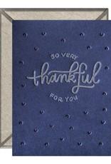So Very Thankful Navy Card