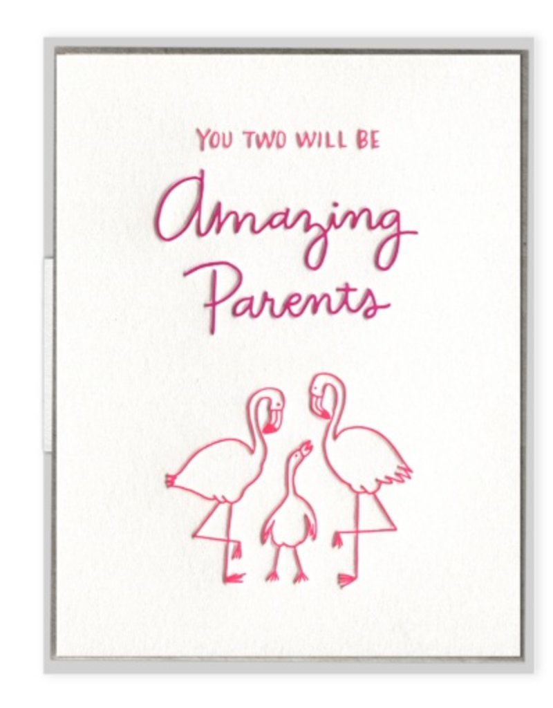 Flamingo Parents Card