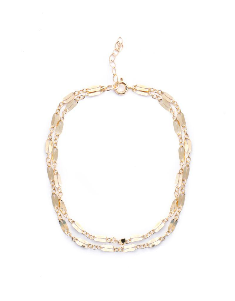 Raise the Bar Layered Chain Bracelet - Gold Filled