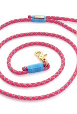 Double Diamond Climbing Rope Dog Leash: Blue and Red