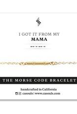 Mama Morse Code Bracelet - Gold Filled