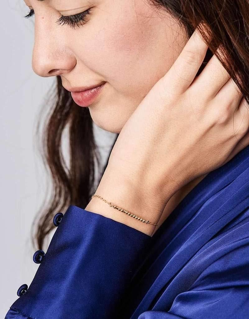 Sister Morse Code Bracelet - Gold Filled
