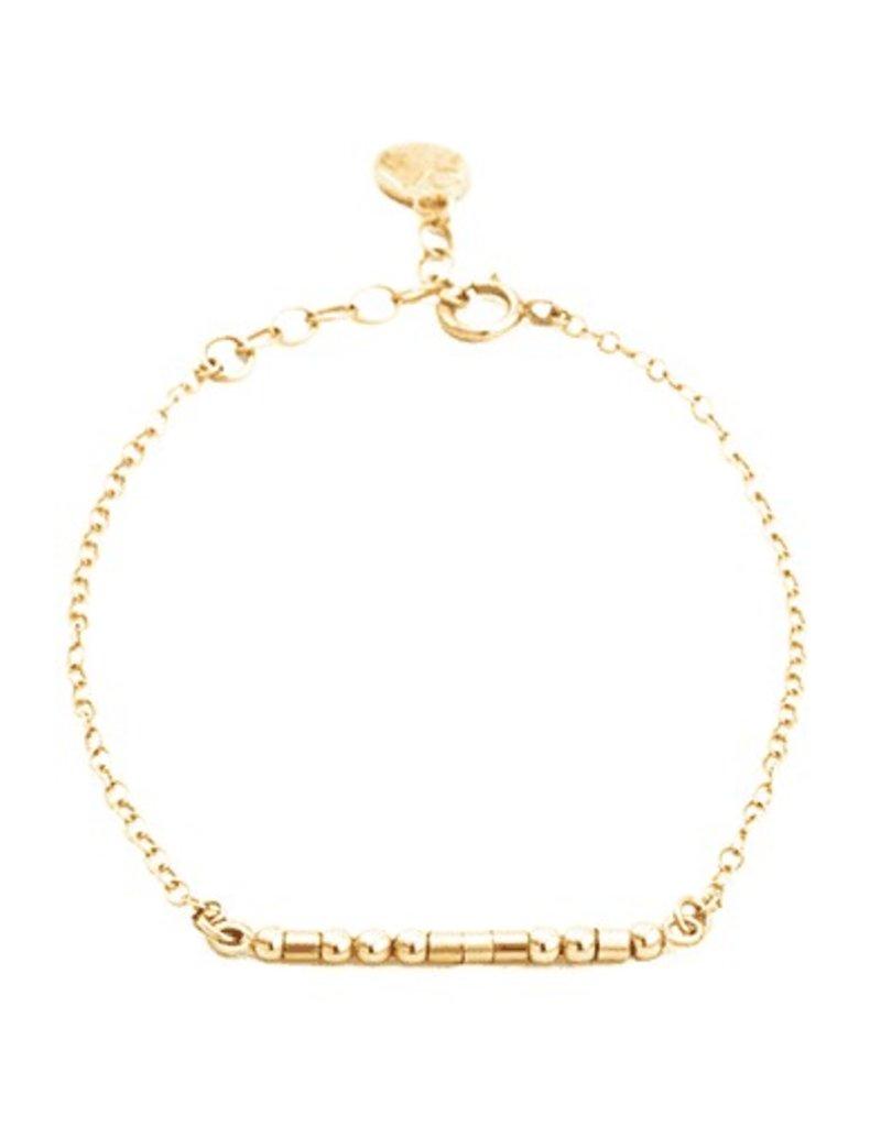 BFF Morse Code Bracelet - Gold Filled