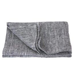 Linen Kitchen Towel - Stonewashed - Dark Grey
