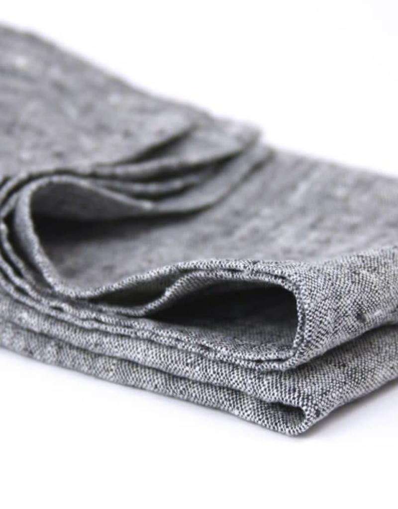 Linen Kitchen Towel - Stonewashed - Dark Grey