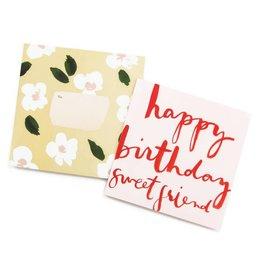 Happy Birthday Sweet Friend Square Card