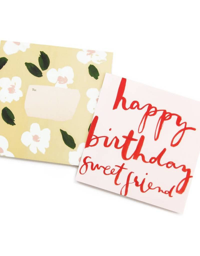 Happy Birthday Sweet Friend Square Card