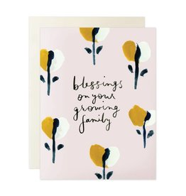 Blessings Growing Family Card