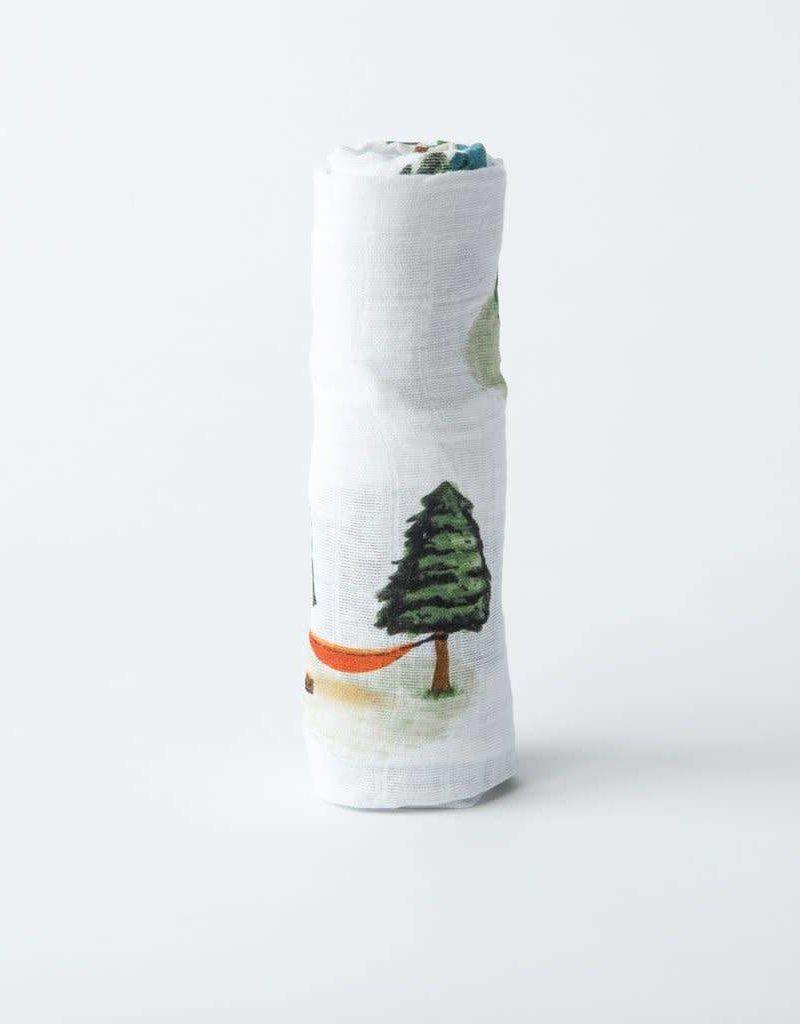 Cotton Muslin Swaddle Single - Happy Camper