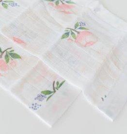 Cotton Muslin Security Blanket 2 Pack - Watercolor Rose