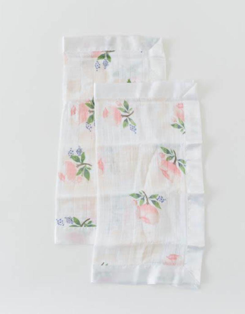 Cotton Muslin Security Blanket 2 Pack - Watercolor Rose