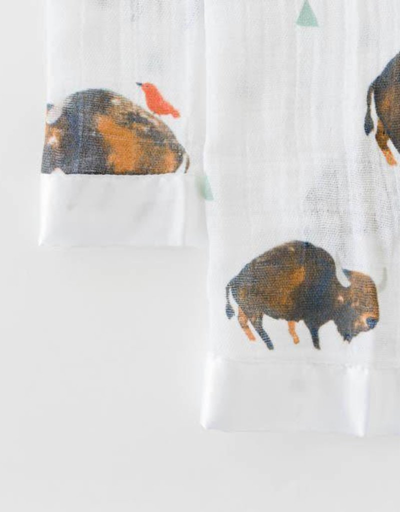 Cotton Muslin Security Blanket 2 Pack - Bison