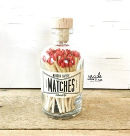 Vintage Apothecary Red Matches - 80 ct.