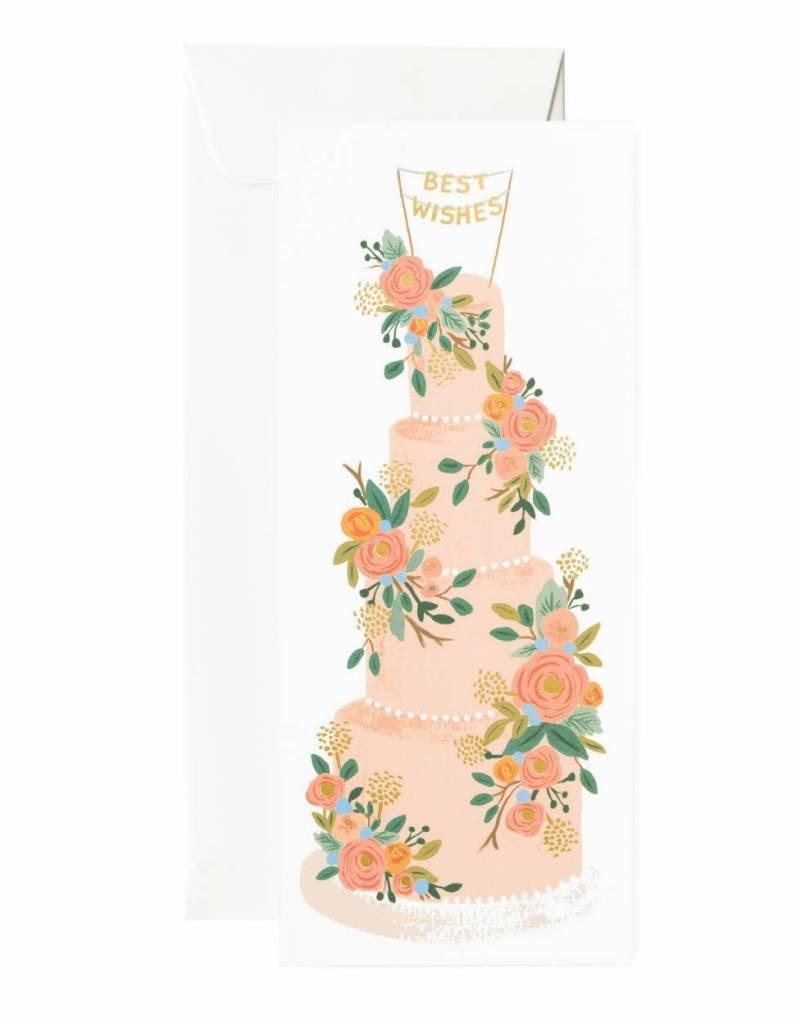 Tall Wedding Cake Card