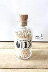 Mini Vintage Apothecary Matches - White
