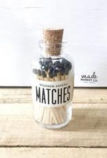 Mini Vintage Apothecary Matches - Black