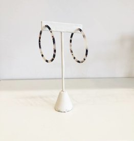 Oversized Acrylic Hoops - Light Tortoise