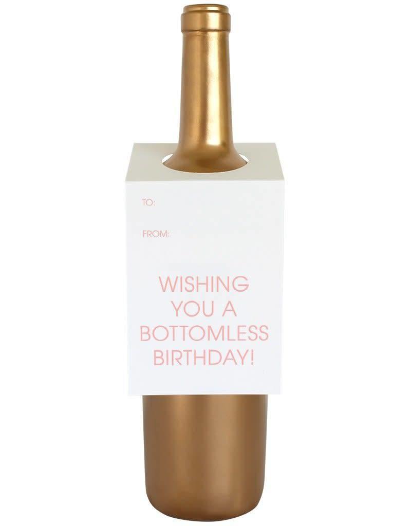 Bottomless Birthday Wine Tag - Single