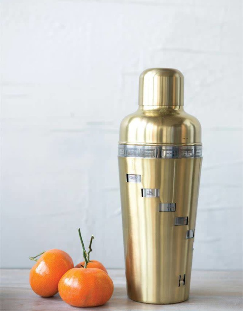 Recipe Cocktail Shaker - Matte Brass
