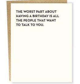 Worst Part Birthday Card