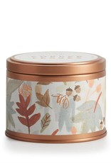 Copper Leaves Autumnal Tin Candle