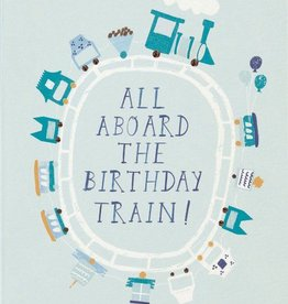 All Aboard the Birthday Train Card