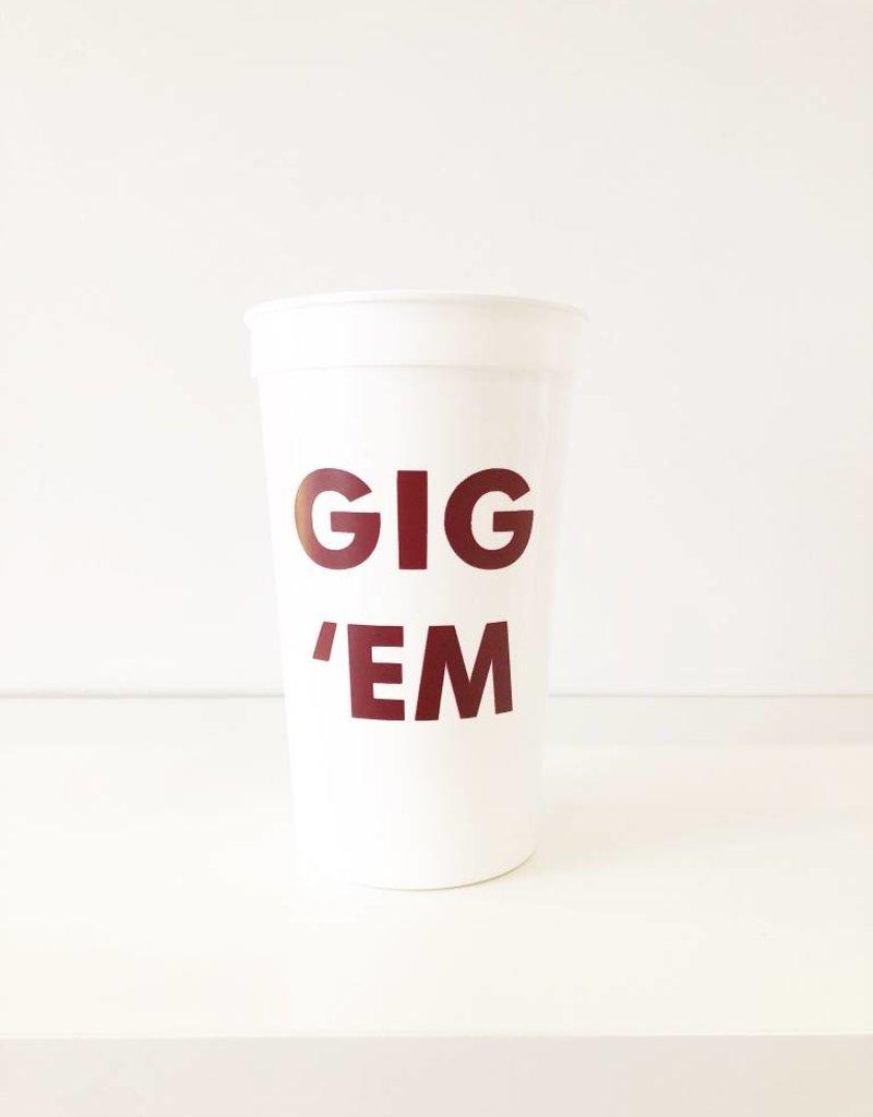 Gig 'Em Cups - Set of 8