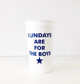 Sundays are for the Boys Cups - Set of 8