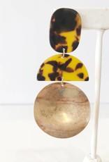 Gold + Tortoise Statement Earring