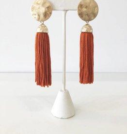 Bold Tassel Earring - Orange