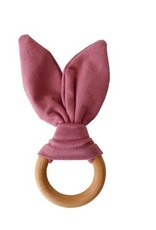 Crinkle Bunny Ears Teether - Mauve