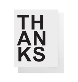Bold Thanks Card