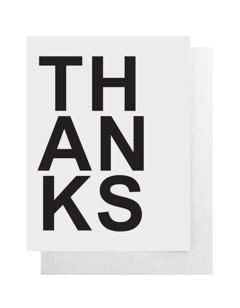 Bold Thanks Card