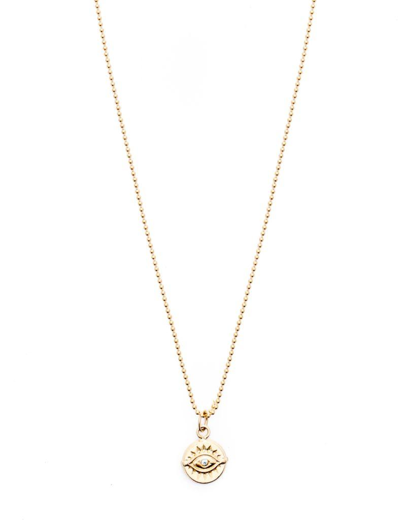 Bright Eyed Pendant Necklace - Gold Filled
