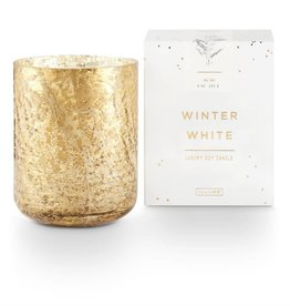 Winter White Small Luxe Sanded Mercury Glass Candle