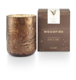 Woodfire Small Luxe Sanded Mercury Glass Candle