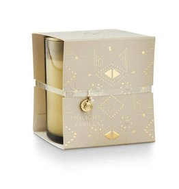 Twilight Vanilla Holiday Shine Wrapped Glass Candle