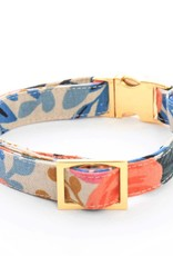 Rosa Floral Natural Dog Collar - L