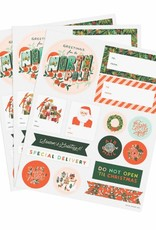Season's Greetings Stickers & Labels - Pack of 3