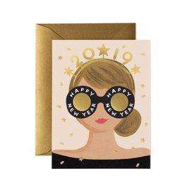 New Years Girl Card