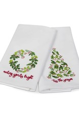 Holly Berry Guest Towel - Set of 2