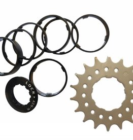 Conversion kit, single speed,  Flanged16 tooth
