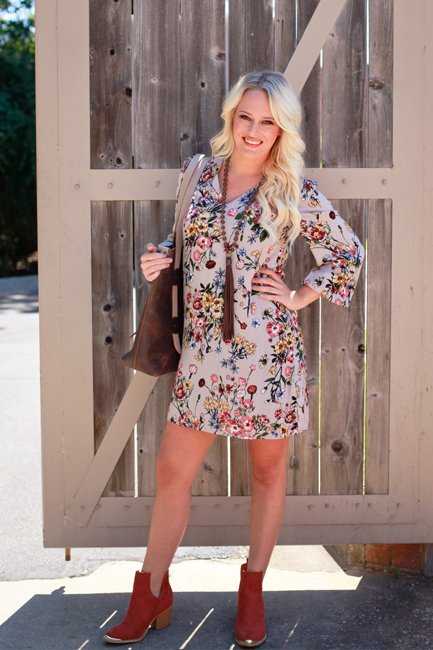 floral dress + booties